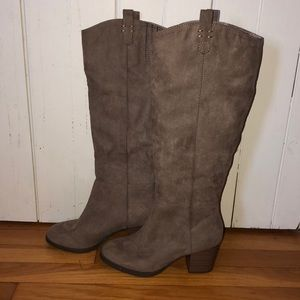 Old navy suede Tall heeled Knee-high boots